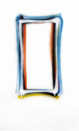 Nelio Sonego - Alphabeta 1, 2020, Acrilico spray su carta, cm 70x50